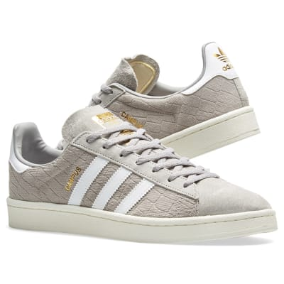 Adidas Campus W Grey, White \u0026 Gold