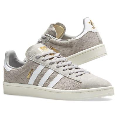 Adidas Campus W Grey, White \u0026 Gold