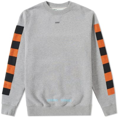 Off-White Checker Crew Sweat