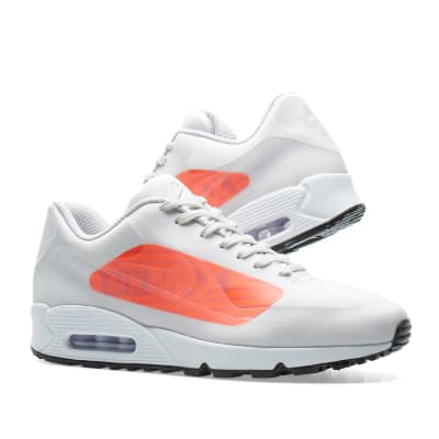 white and red nike air max 90