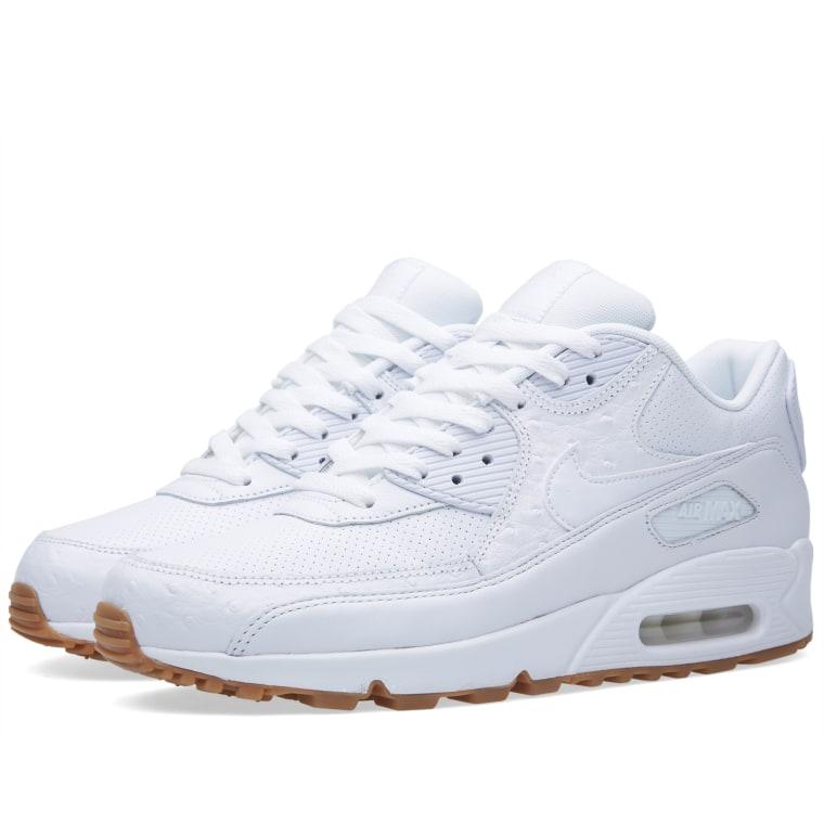 nike air max 90 leather pa triple white gums