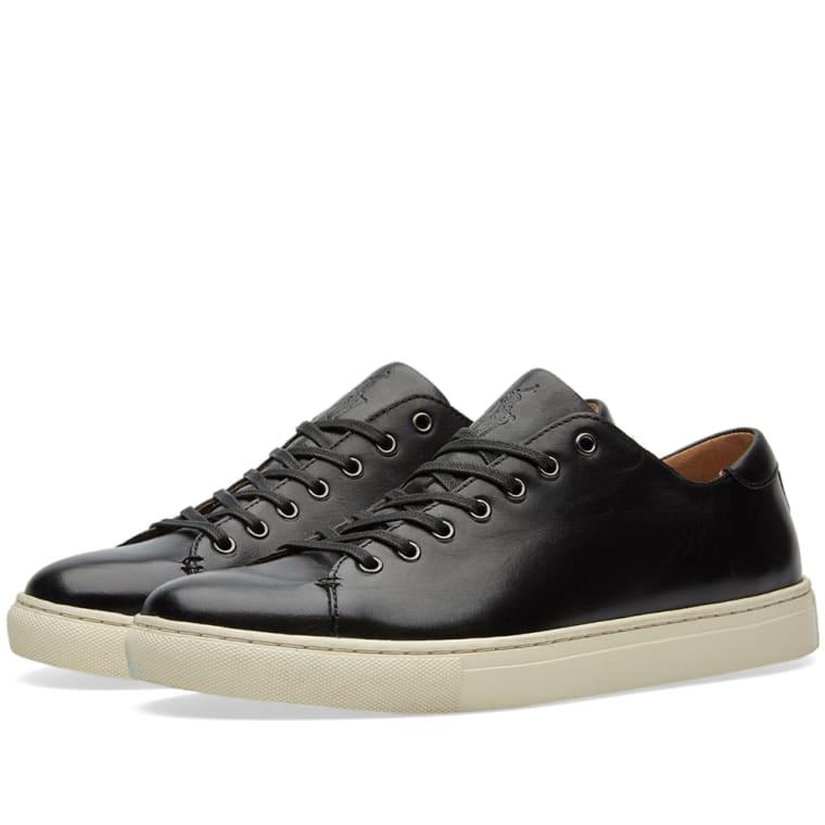 Polo Ralph Lauren Jermain Sneaker Black Leather 1