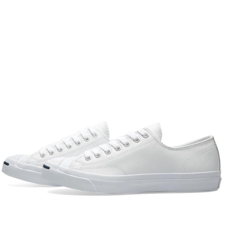 20b88d1fe1f7 Converse Jack Purcell Leather Ox (White   Navy)