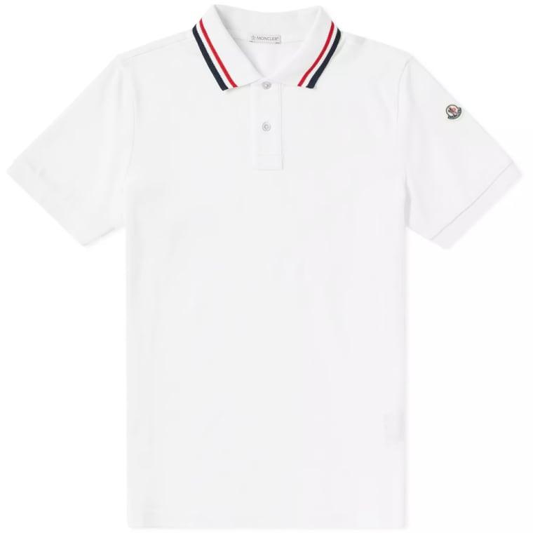 46a2a89bd best wholesaler 4fdea 2d2d0 tricolour collar t shirt in navy moncler ...