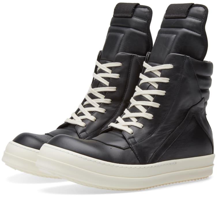 rick owens geobasket sneaker black bone end. Black Bedroom Furniture Sets. Home Design Ideas