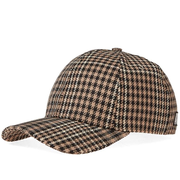 AMI Checked Baseball Cap (Black   Beige)  099eda0beb9
