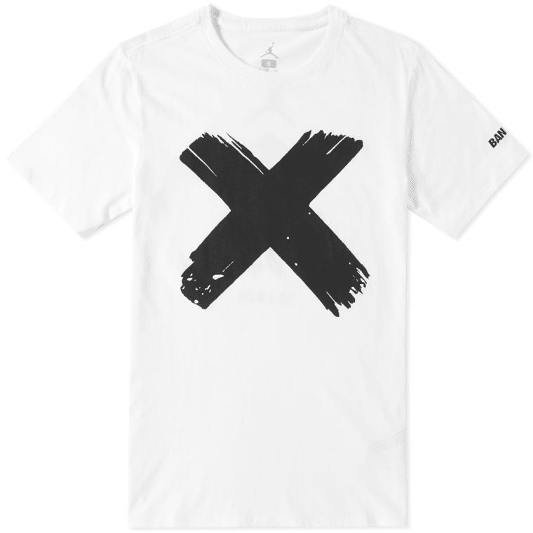Nike Air Jordan 1 Banned Logo Tee White Black End