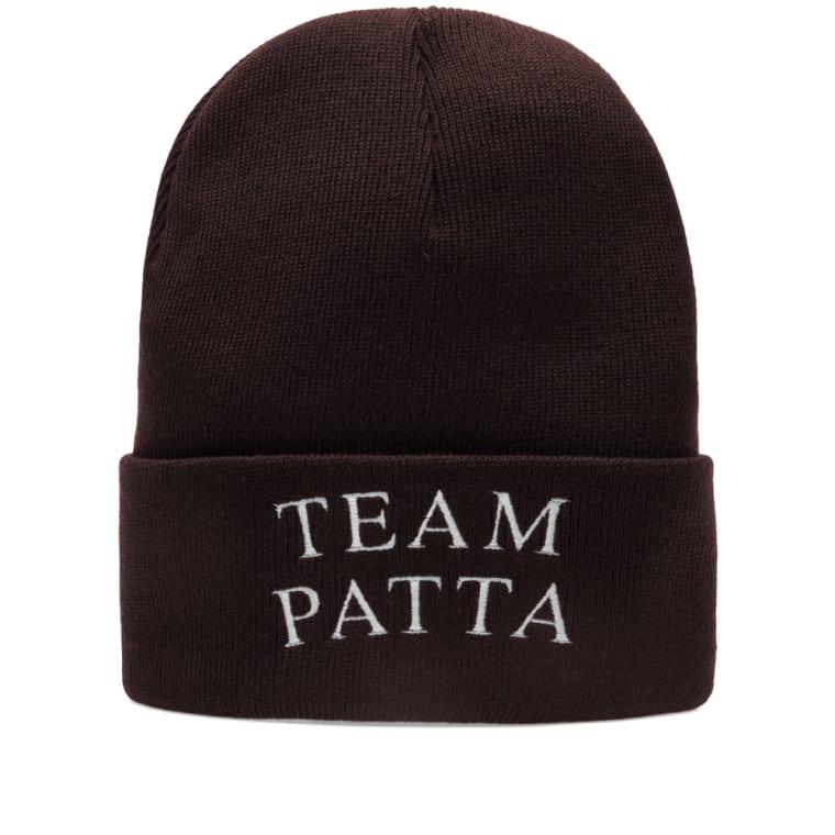 Patta Team Watch Hat  Black Coffee  1