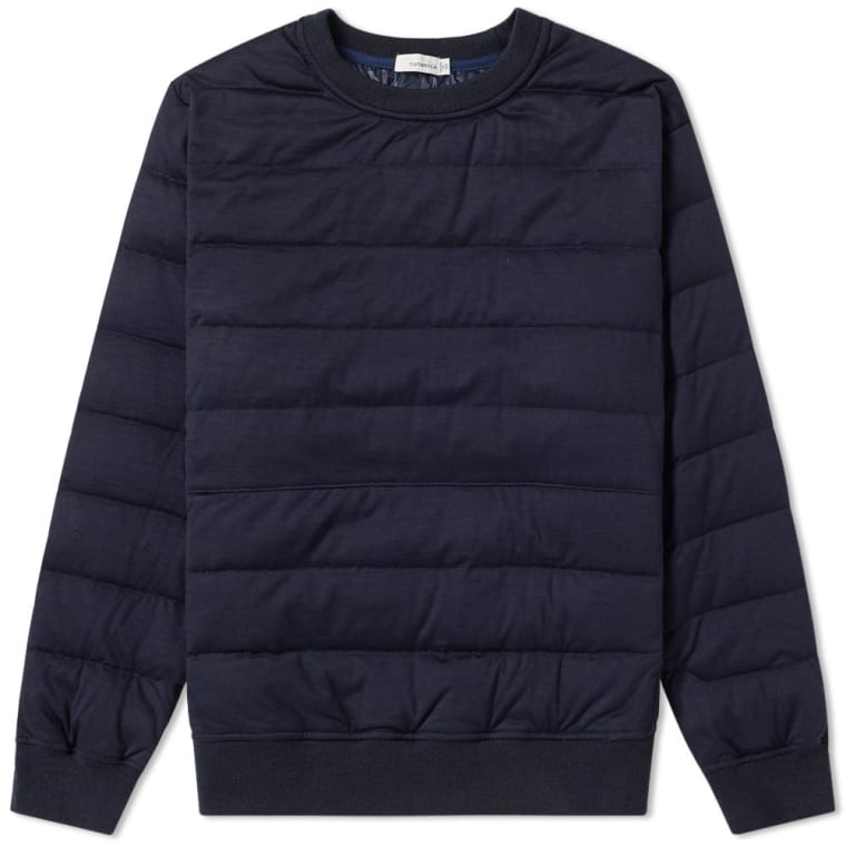 Nanamica Down Crew Neck Sweater (Navy) | END.