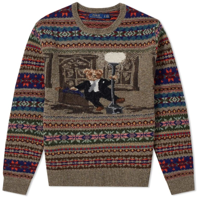 Polo Ralph Lauren Bear Isle Crew Knit (Multi) | END.