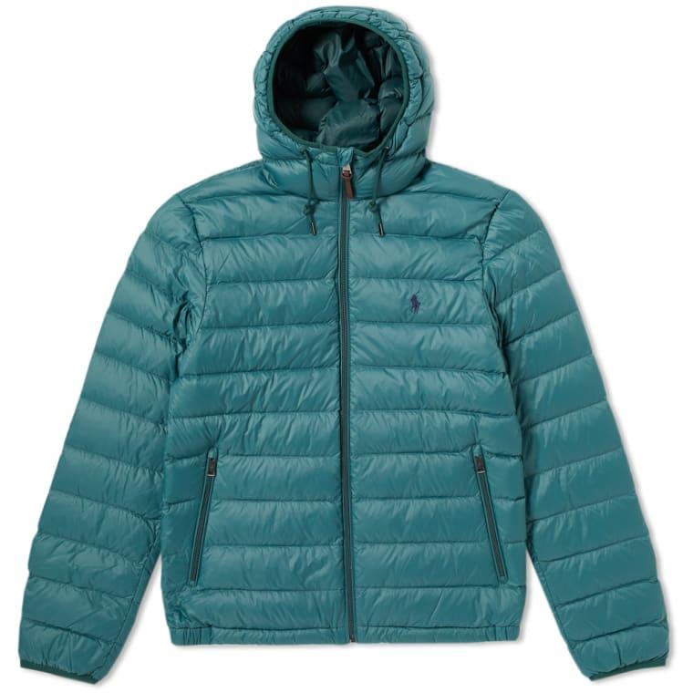 Polo Ralph Lauren Lightweight Hooded Down Jacket Regent Green 1