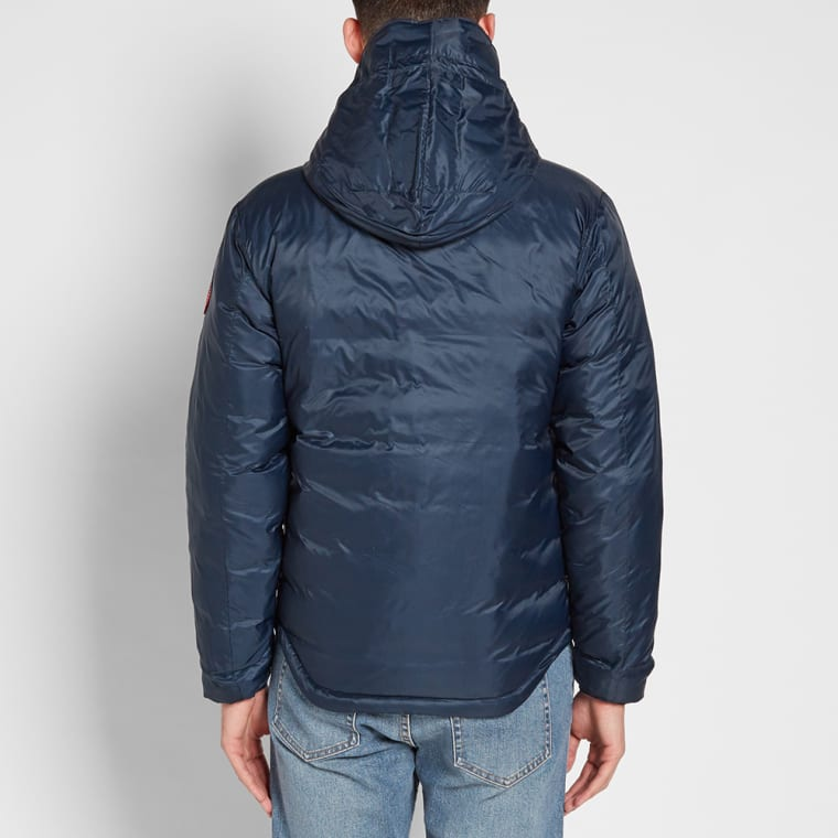 Canada Goose Lodge Hooded Jacket Ink Blue Amp Firefly End