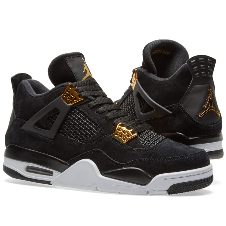 abb45d9ef4fb09 ... where to buy nike air jordan 4 retro royalty black metallic gold 5c33c  0454d