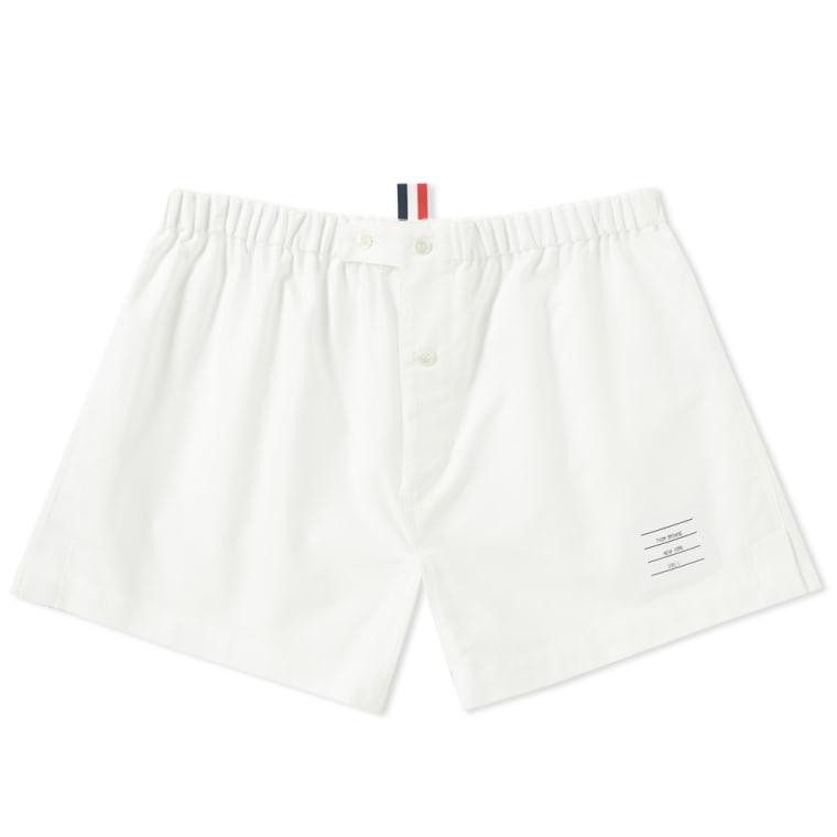 Thom Browne Cotton Oxford Boxer Shorts - Off-white