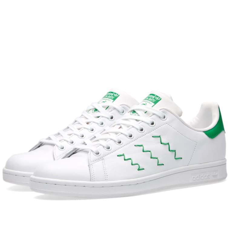 Adidas Women s Stan Smith W (White   Green)  223524055