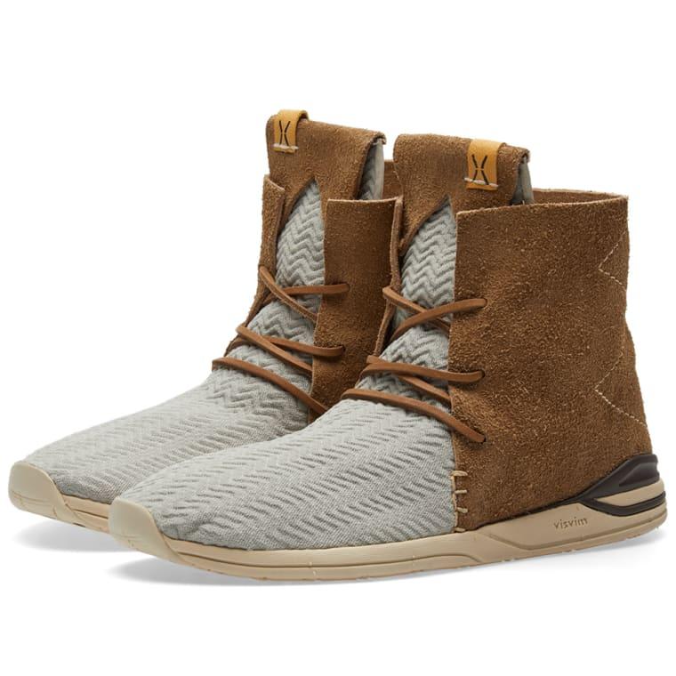 VISVIM Huron Mesh Moc Hi-Folk Sneakers
