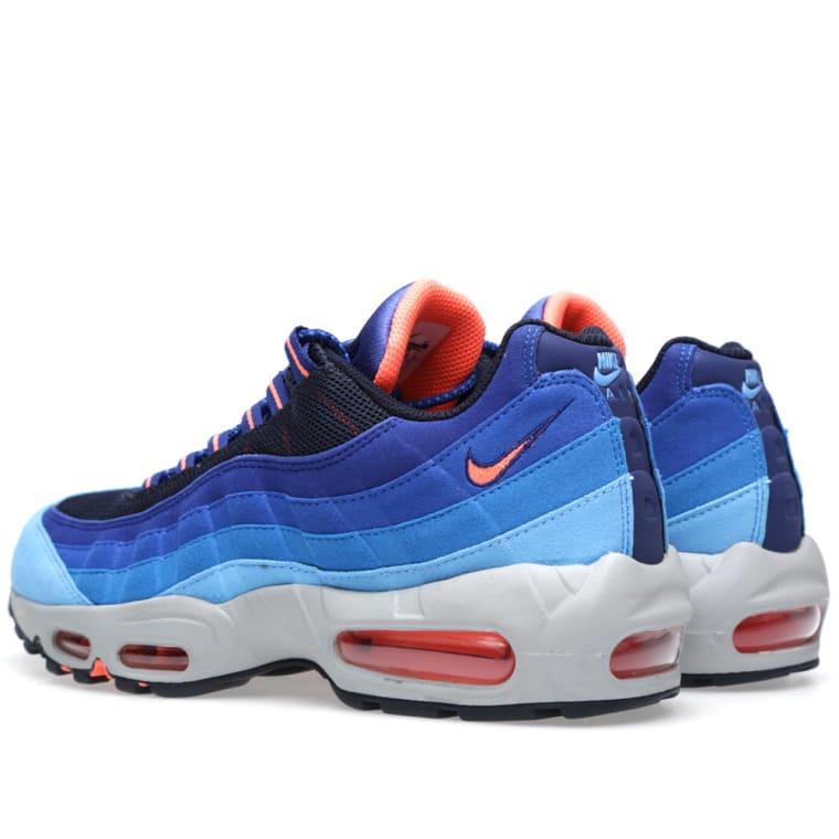 save off c4b6b b79a1 ... girls always have fire sneakers 3d625 5fa49  switzerland nike air max  95 university blue bright mango 1 e582e 915b7