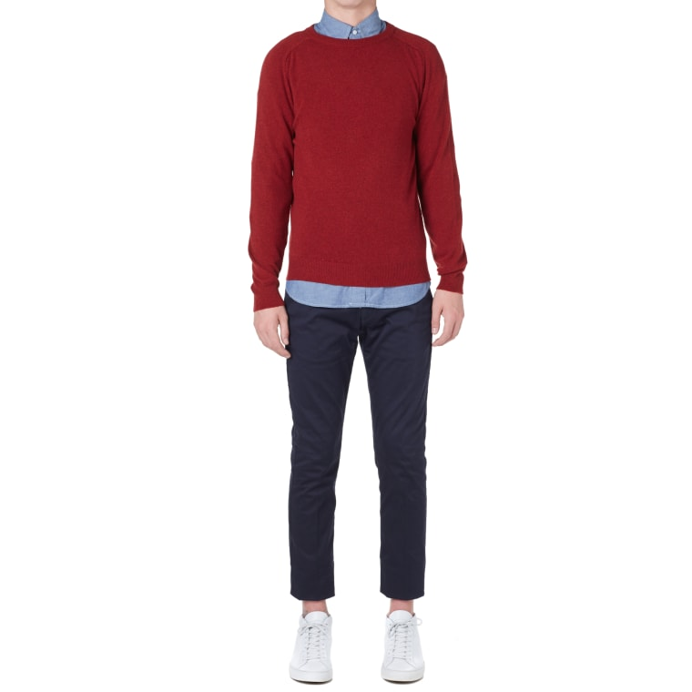 A.P.C. Carl Crew Knit (Red)