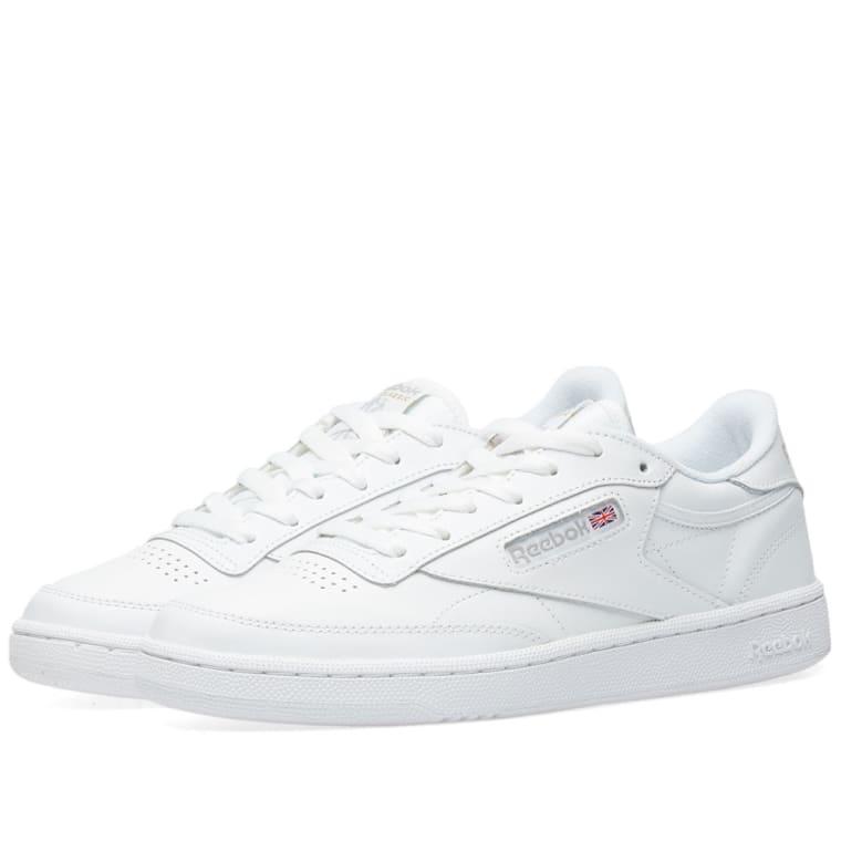 Reebok Club C 85 W (White   Light Grey )  3659cb5cf6cac