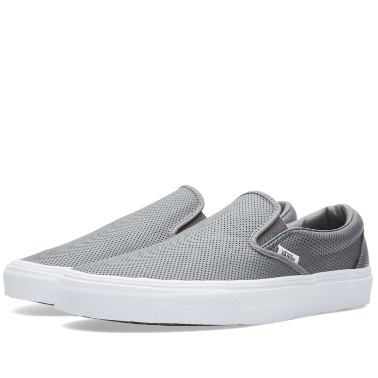f1651654714 Vans Classic Slip On (Smoked Pearl Perforated)