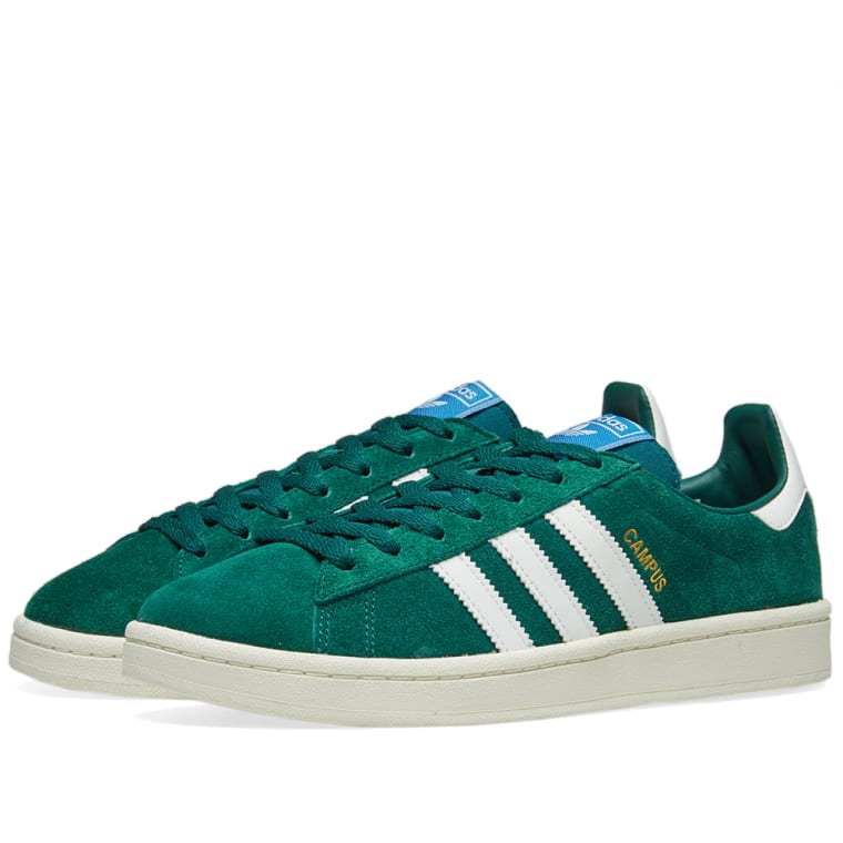 Adidas Campus Collegiate Green  White 1