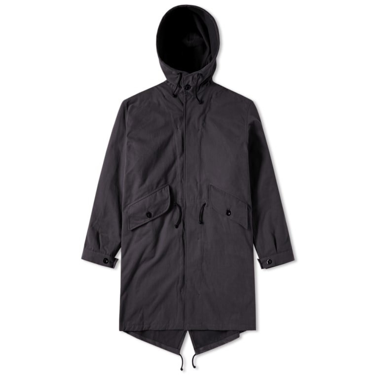 MHL. by Margaret Howell Fishtail Parka (Navy) | END.