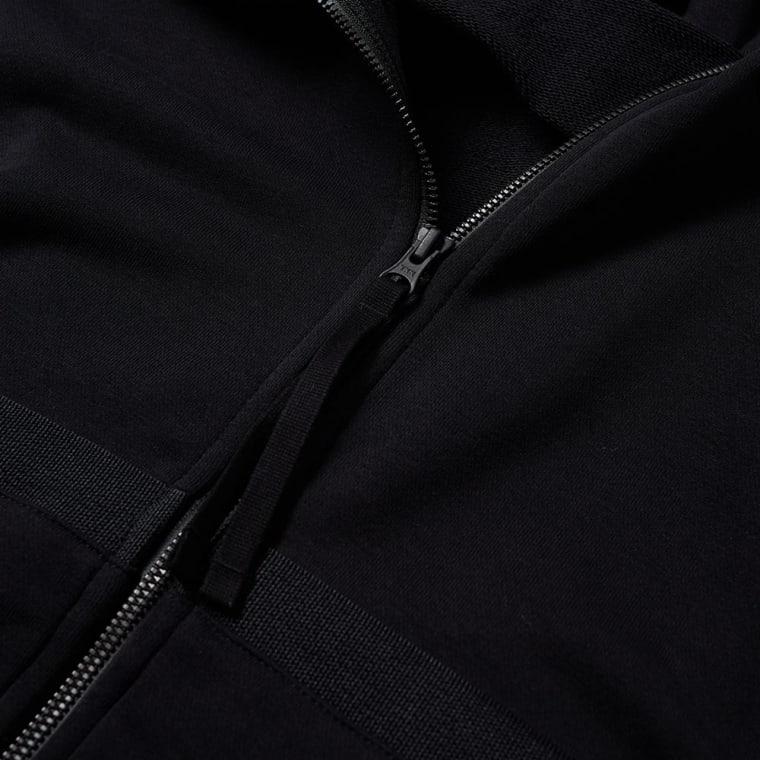 Nike Air Force 1 Zip Hoody Black End