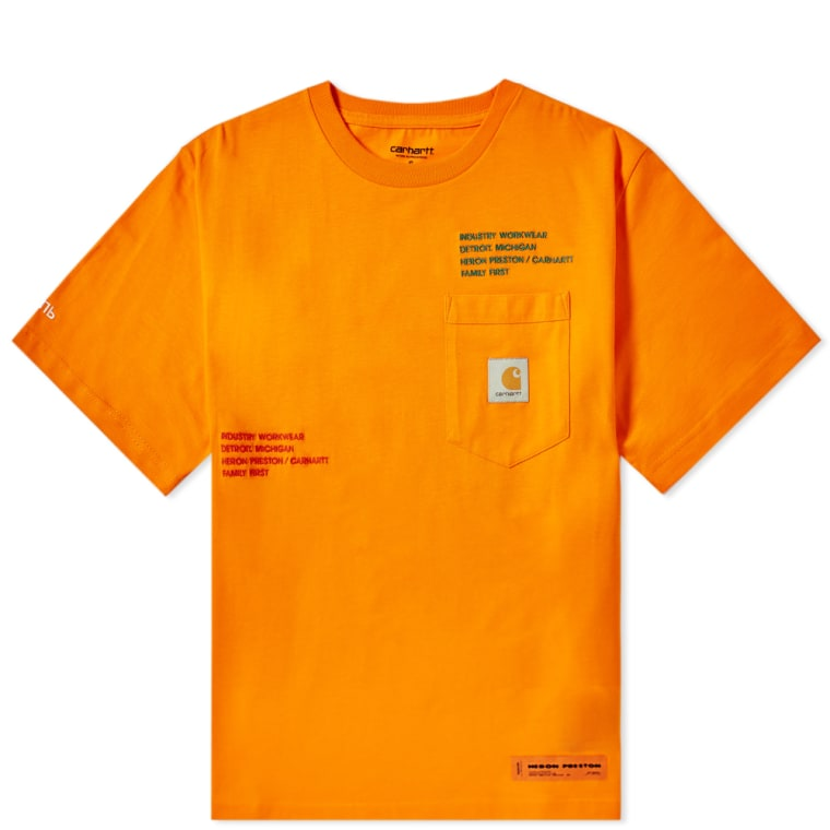 Heron Preston x Carhartt WIP Pocket Tee (Orange & Multi ...