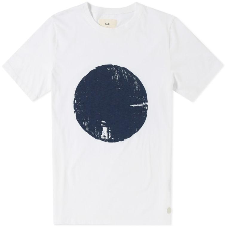 05496813b01c Folk Mesa Tee (White   Blue Denim)