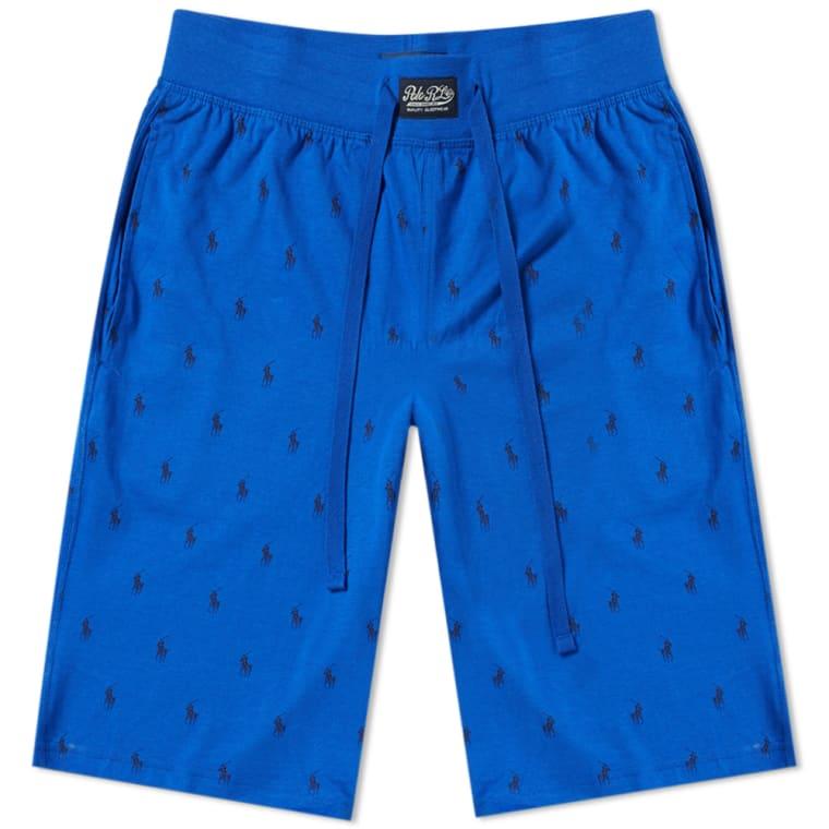Polo Ralph Lauren All Over Pony Sleepwear Short Royal End