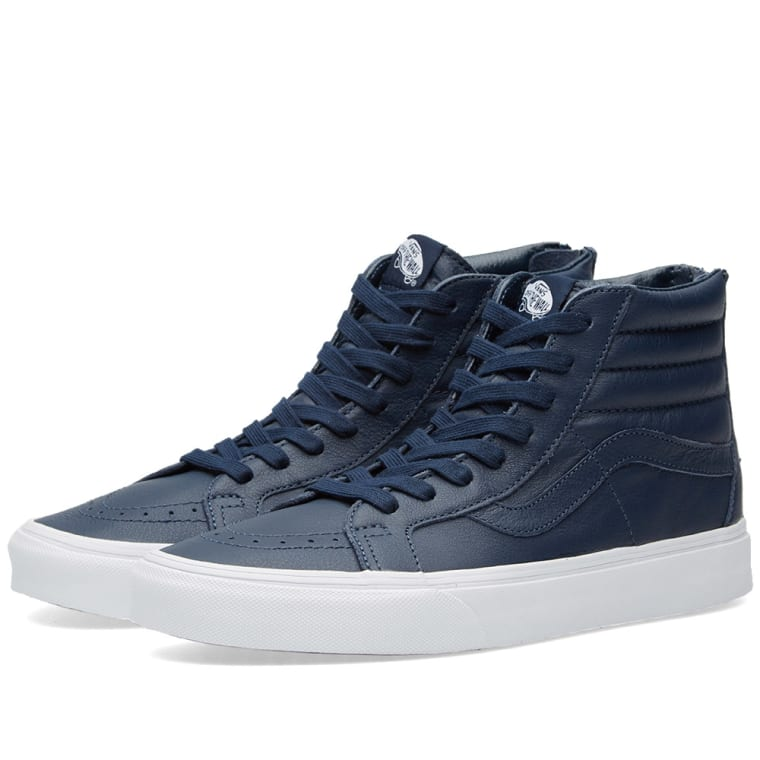 d1db698c65e775 Vans SK8-Hi Reissue Zip (Dress Blues   True White)