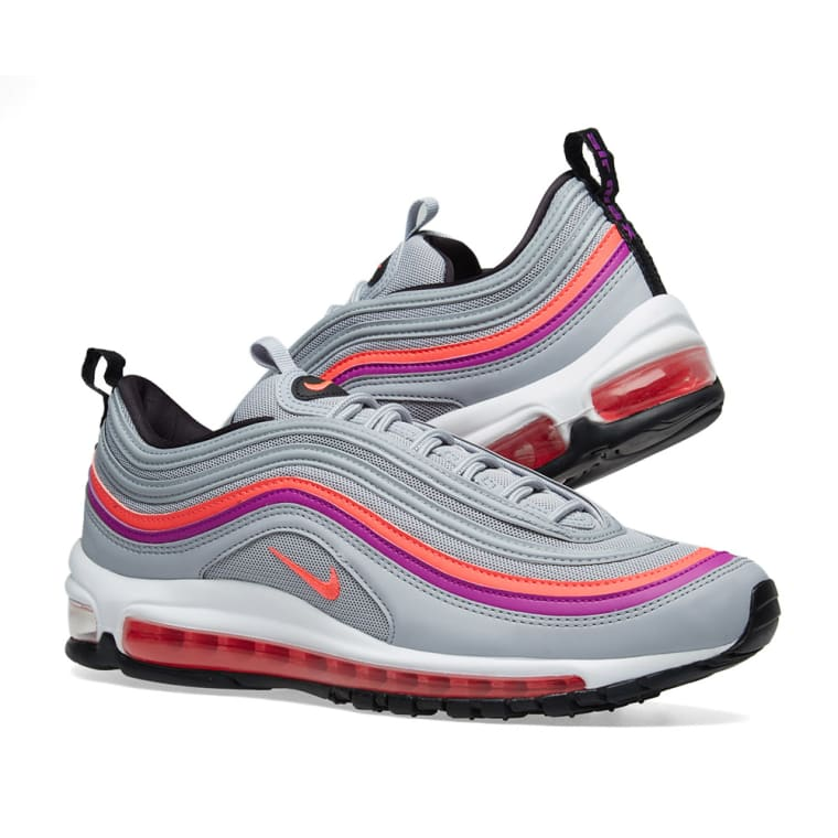 13baf43d23 top quality nike air max 97 w grey red purple black 7 6394e 7b72b