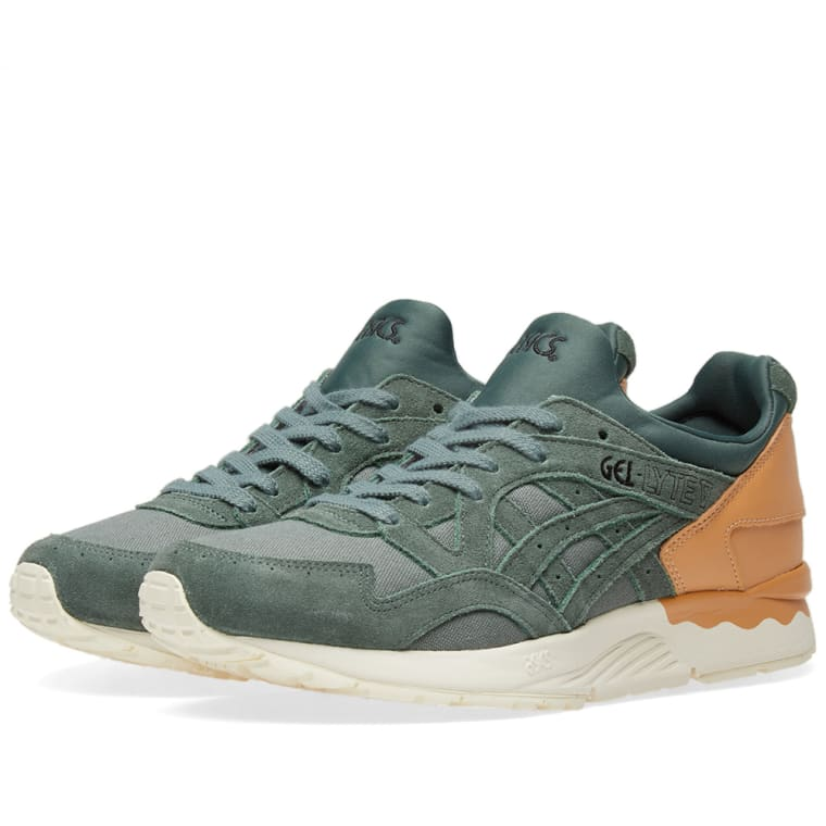 Asics Lifestyle Men's Gel-Lyte V Canvas Trainers - Dark Forest - UK 9