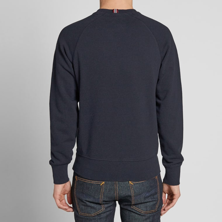 fred perry loopback crew sweat navy marl end. Black Bedroom Furniture Sets. Home Design Ideas