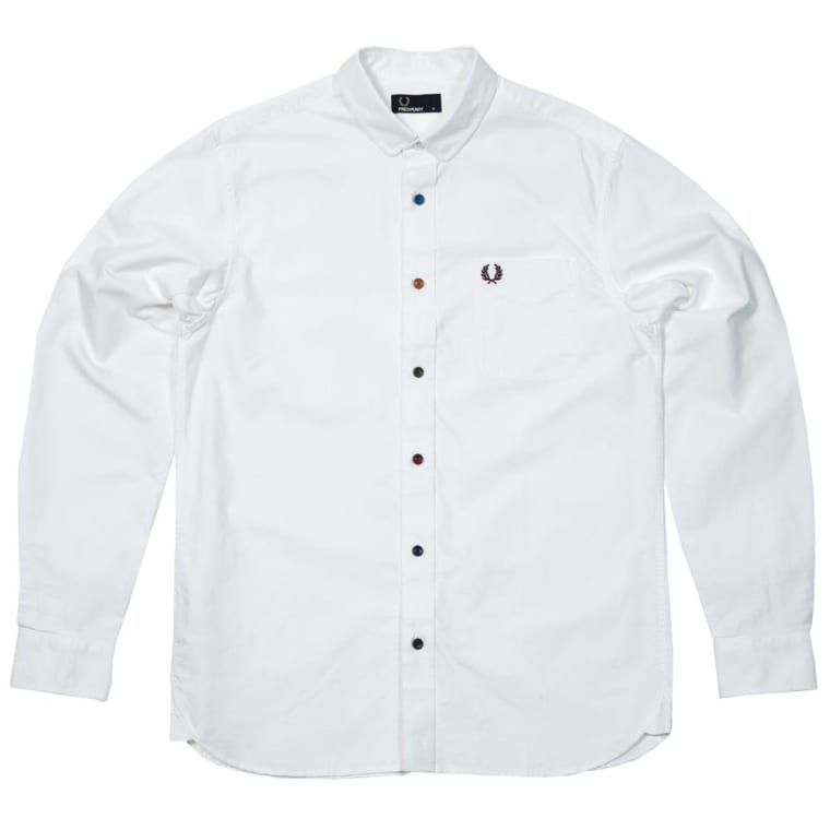 Fred Perry Coloured Button Oxford Shirt (White) | END.