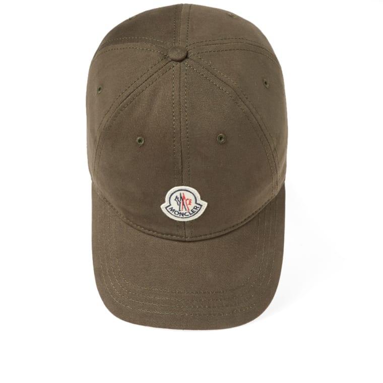 81c6a93fec6 Moncler Logo Baseball Cap (Olive)
