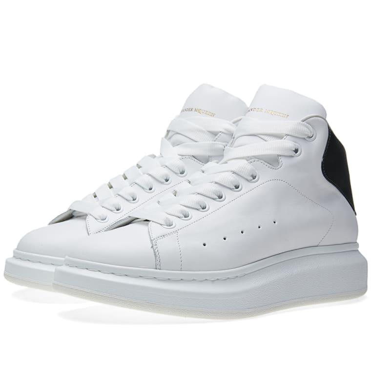 Alexander Mcqueen Oversized Sole Mid Top Sneaker White Bottle