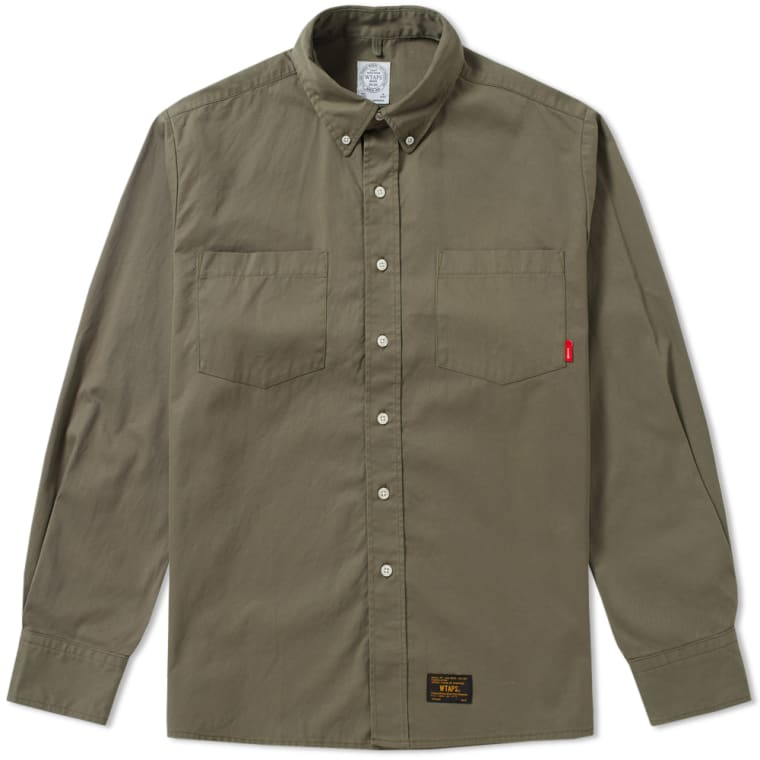 WTAPS Button Down Shirt (Olive Drab) | END.