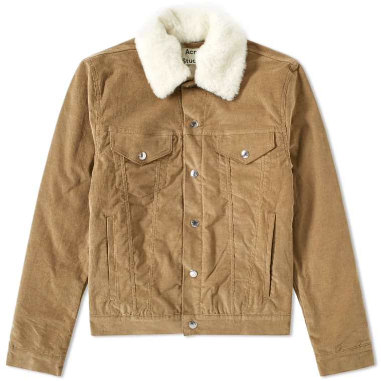 Acne Studios Beat Cord Jacket Khaki End