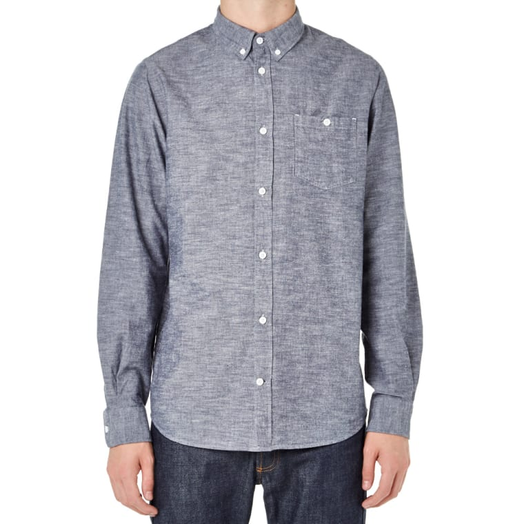 e3b179a7c16 Norse Projects Anton Chambray Shirt (Navy)