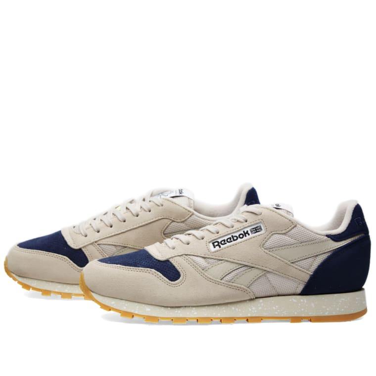 Reebok Classic Leather SM (Sandstone   Blue Ink)  a944d62c1