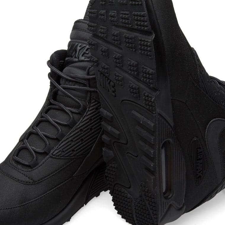 NIKE AIR MAX 90 Sneakerboot WNTR 684714 001 Winter Black