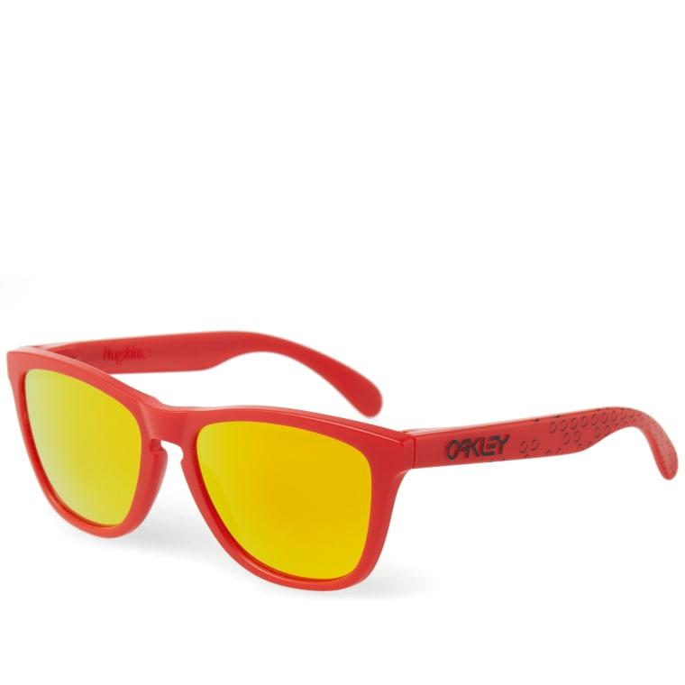 01f71ce655 ... usa oakley frogskin sunglasses matte red fire iridium 3 5433f 40699