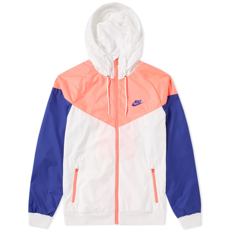 Nike Windrunner Jacket White Hot Punch Concord End