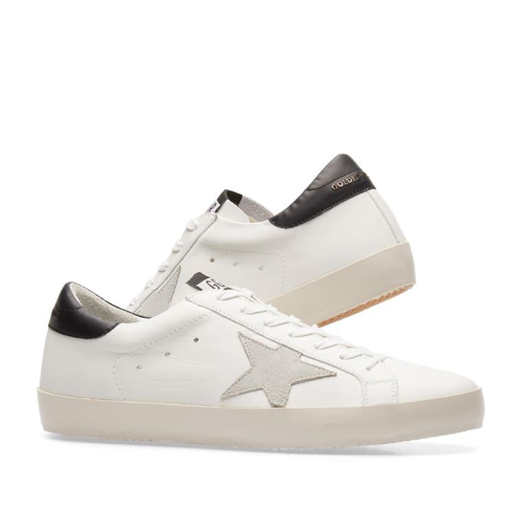 Golden Goose White & Grey Clean Superstar Sneakers