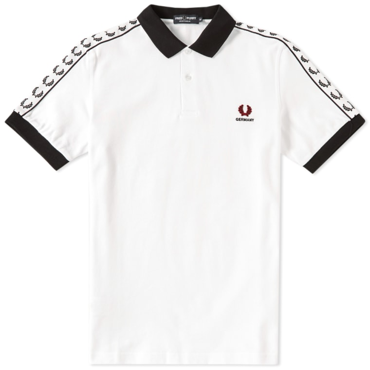 fred perry country polo 39 germany 39 white black blood end. Black Bedroom Furniture Sets. Home Design Ideas