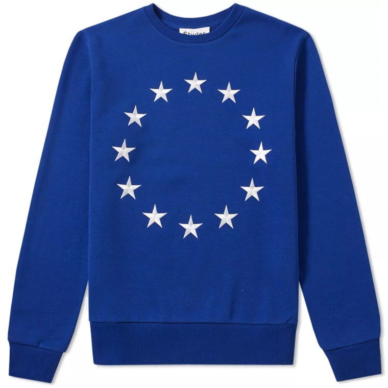 timeless design 76e04 d2b8d ... Études Etoile Europa Crew Sweat Blue White 1  Michael Jordan ...