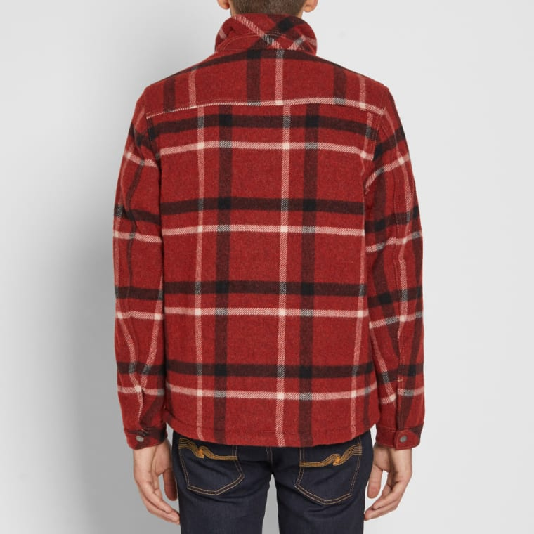 Nudie Lenny Check Jacket Red End
