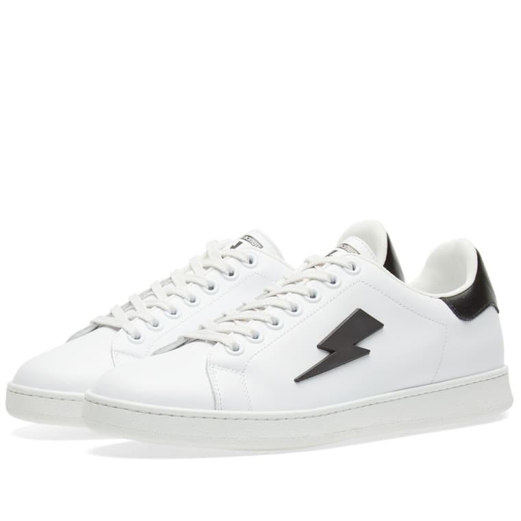 Black Thunderbolt Tennis Sneakers Neil Barrett