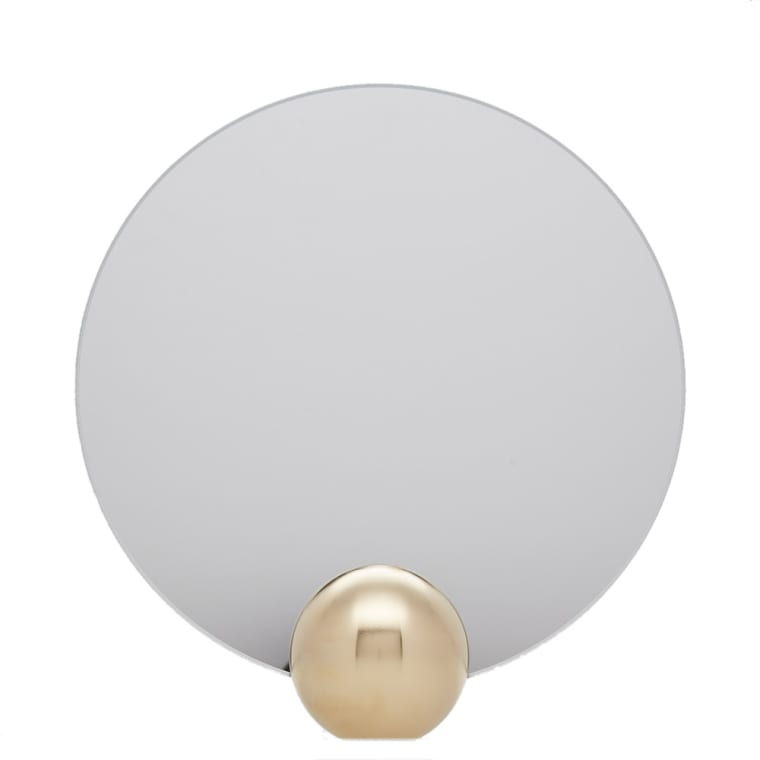 Minimalux Brass Mounted Round Mirror 1
